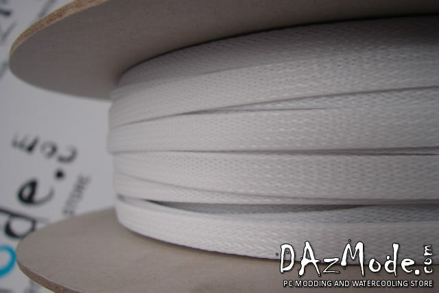 """1/2"""" (12mm) DarkSide High Density Cable Sleeving - White 1Ft"""
