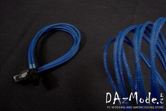 "6-Pin PCI-E XL 19"" (50cm) DarkSide Single Braid Cable - Dark Blue UV"