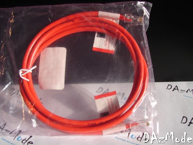 Ethernet Network Cable Cat5 6 ft RJ45 Red