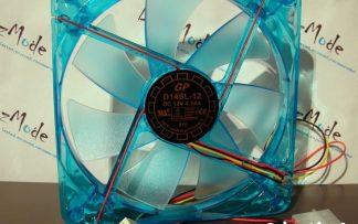 Slow Speed 140mm fan Blue w/ LED Yate Loon1000RPM