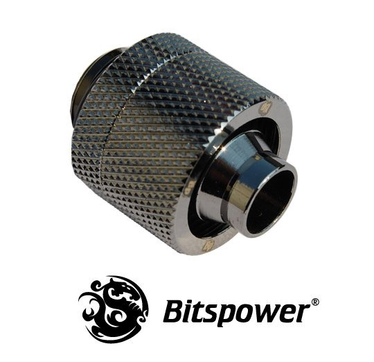 "3/8""ID - 5/8""OD Straight Compression Fitting - Black Nickel"