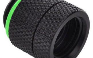 16mm Rotary Anti-Twist  Spacer Adapter Male/Female  - Matt Black