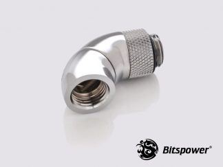 "G1/4"" 90 (45x2) Degree  G1/4"" Adapter Extender - Silver"