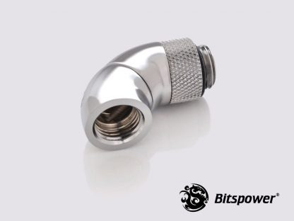 "G1/4"" 90 (45x2) Degree  G1/4"" Adapter Extender - Silver"