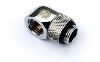 "G1/4"" 90 Degree Rotary IG 1/4"" Adapter Extender - Silver"