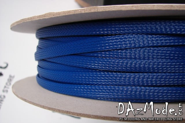 "3/8"" (9mm) DarkSide High Density Cable Sleeving -Dark Blue 1Ft"