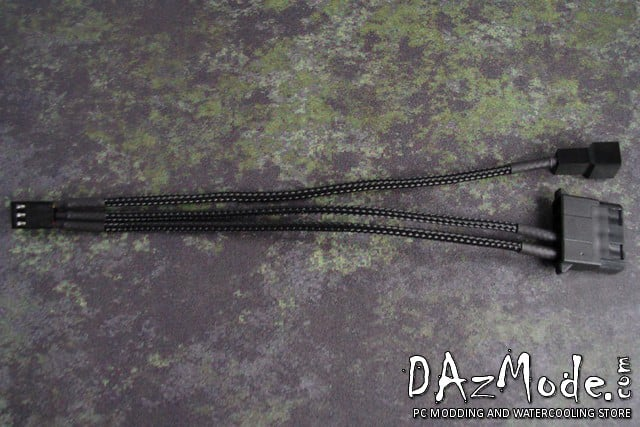 DazMode Special Cable - MOLEX + TACH to 3-pin FAN