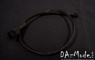 3-Pin 30cm Fan DarkSide Single Braid Cable - Jet Black