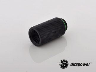 30mm  Spacer Adapter Male/Female  - Matt Black