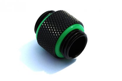12mm Dual Connecting Spacer Adapter Male/Male  - Matt Black