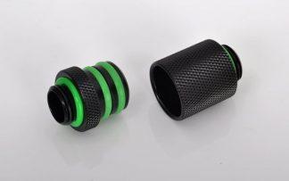 """G1/4"""" Long D-Plug Male / Male Coupler Set - Matte Black"""