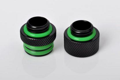 "G1/4"" Mini D-Plug Male / Male Coupler Set - Matte Black"