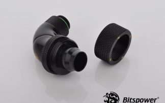 "3/8""ID - 1/2""OD Triple Rotary 90 Deg Compression Fitting -Matte Black"
