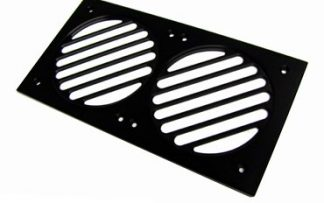 "MNPCTech Pro-line 2x120mm ""240"" Fan or Radiator Grill - Black"