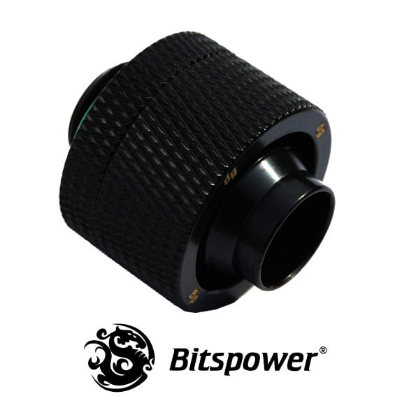 "Straight Black Compression Fitting - 7/16"" to 5/8"" - Matte Black"