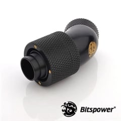 "45-Degree Black Compression Fitting - 7/16"" to 5/8"" - Matte Black"
