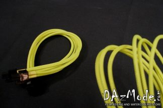 "4+4 EPS 12"" (30cm) DarkSide Single Braid Cable - Acid Yellow UV"