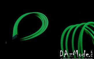 8-Pin PCI-E DarkSide Single Braid Cable - Green UV