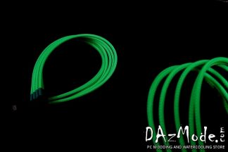 8-Pin PCI-E DarkSide Single Braid Cable - Green UV