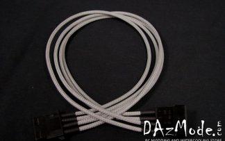 4-pin MOLEX  DarkSide Single Braid Cable - Titanium Gray