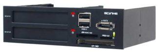 "Scythe Kama Rack 5 - 5.25"" Bay Module Dual SSD Card Reader"