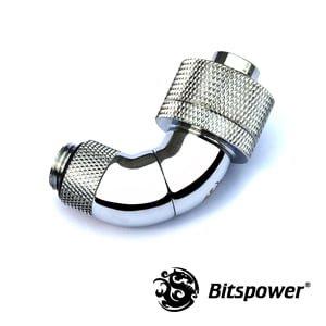 "1/2""ID - 3/4""OD Triple Rotary 90 Deg Compression Fitting -Silver"