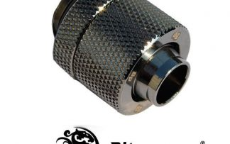 "3/8""ID - 1/2""OD Straight Compression Fitting - Black Sparkle"