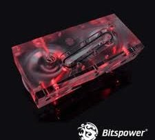 Bitspower Dual D5 Pump Serial Top (Acrylic Version)