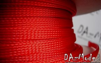 "3/8"" (9mm) DarkSide High Density Cable Sleeving -Red UV 1Ft"