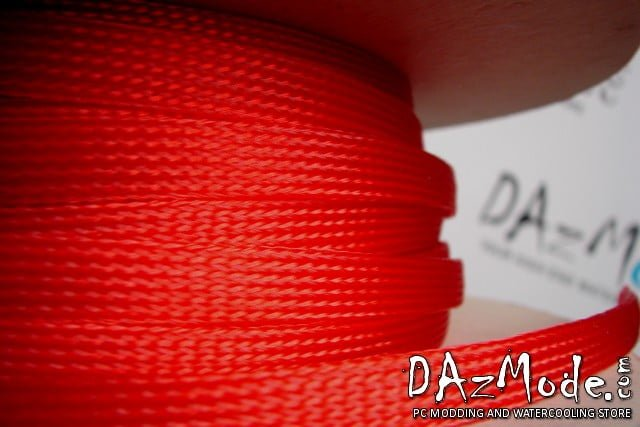 "1/2"" (12mm) DarkSide High Density Cable Sleeving - Red UV 1Ft"