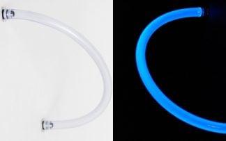 "Feser Tube Active UV Hose - 3/8"" ID - 5/8"" OD -Clear - UV Blue"
