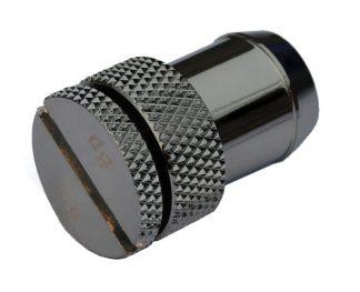 "Fill/Drain Port Sealing Plug w/ 1/2""ID Tubing Barb - Blk Sparkle"