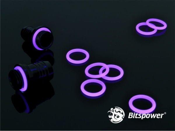 Bitspower UV Reactive Purple O-Ring (pack of 10)