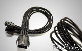 "4+4 XL EPS 19"" (50cm) DarkSide Single Braid Cable - Jet Black"