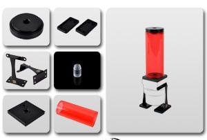 Upgrade Kit for Dual / Single D5 Top - 150 (ICE Red Tube + Black POM Cap)