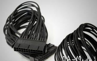 "24-Pin ATX  12"" (30cm) DarkSide Single Braid Cable - Jet Black"