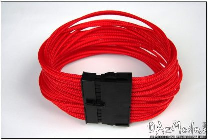 "24-Pin ATX HSL 12"" (30cm) DarkSide HSL Single Braid Cable - Red UV-2"