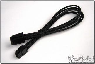 "6-Pin PCI-E 12"" (30cm) DarkSide HSL Single Braid Cable - Jet Black"
