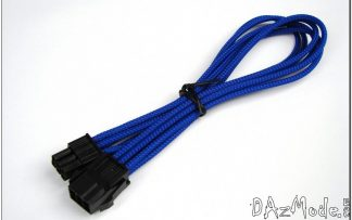 8-Pin PCI-E DarkSide HSL Single Braid Cable - UV Dark Blue