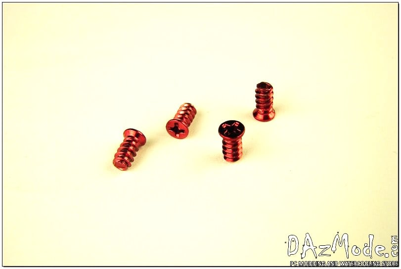 Fan Screw - Red (Set of 4)