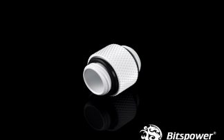 12mm Dual Connecting Spacer Adapter Male/Male  - White