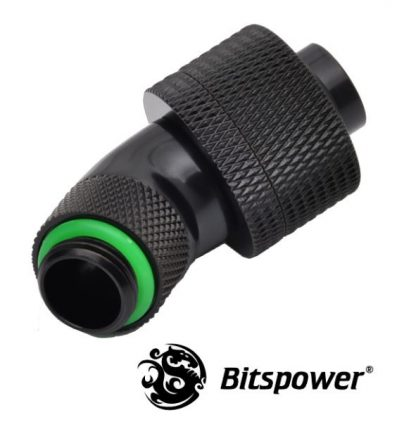"""1/2""""ID - 3/4""""OD Rotary 45 Degree Angled Compression Fitting - Matte Black-2"""