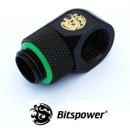 90 Degree Rotary Adapter M/F G1/4 - Matte Black-2