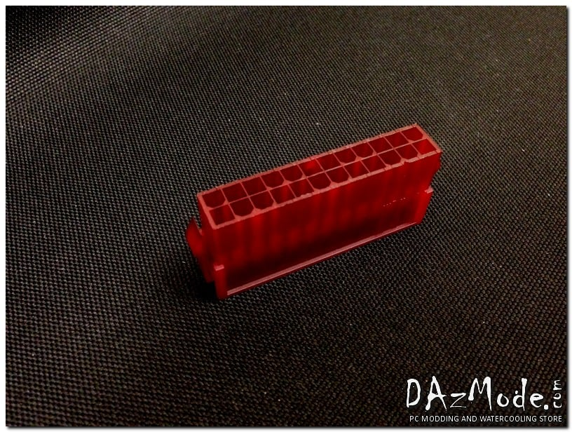 24-Pin ATX Male Power Connector - Deep Red