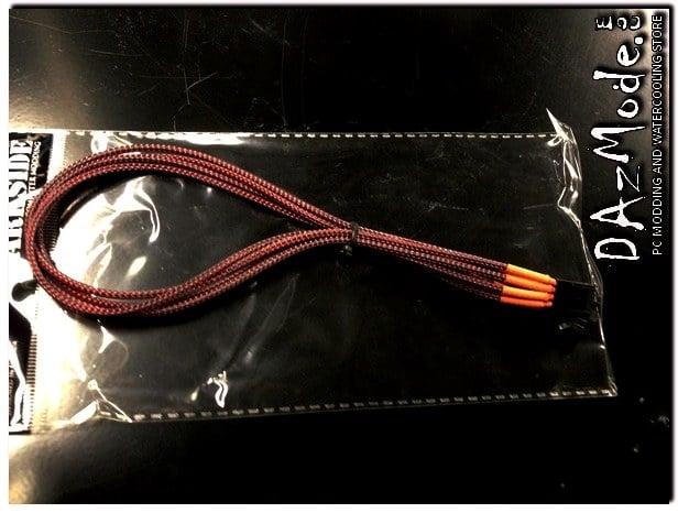 4-Pin 40cm Fan DarkSide Individual Wire Single Braid Cable - Lava
