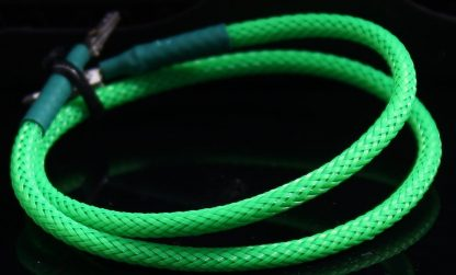 """5/64"""" ( 2mm ) DarkSide HD Cable Single Wire Sleeving - Green UV 1Ft"""