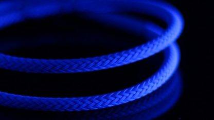 "5/64"" ( 2mm ) DarkSide HD Cable Sleeving - Aqua Blue UV-2"