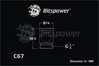 "G1/4"" Black Sparkle In-Side 90 Degree Diversion Fitting"