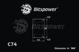 "Dual IG1/4"" F/F Extender-30MM - Silver Shining"