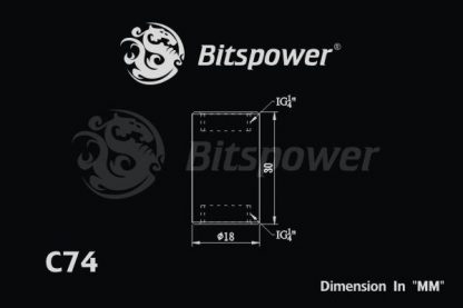 "Dual IG1/4"" F/F Extender-30MM - Black Sparkle-4"